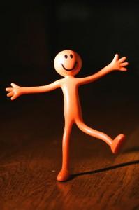 happy plastic doll