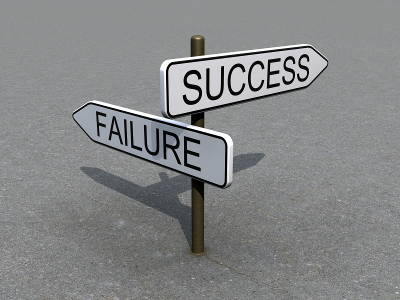 Sign post with Failure and Success