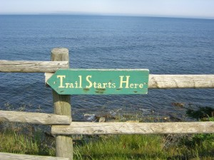 Trail Starts Here sign
