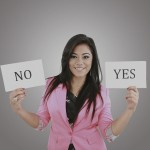 Girl_Yes_No_signs