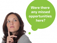 Woman thinking: Were there any missed opportunities here?