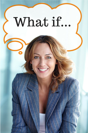 """woman thinking """"what if..."""""""