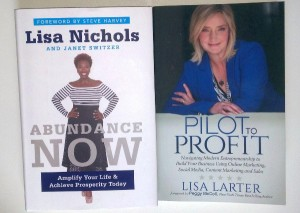 """Abundance Now"" and ""Pilot to Profit"" book covers"