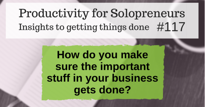 Productivity for Solopreneurs: Insights to getting things done #117 / How do you make sure the important stuff in your business gets done?