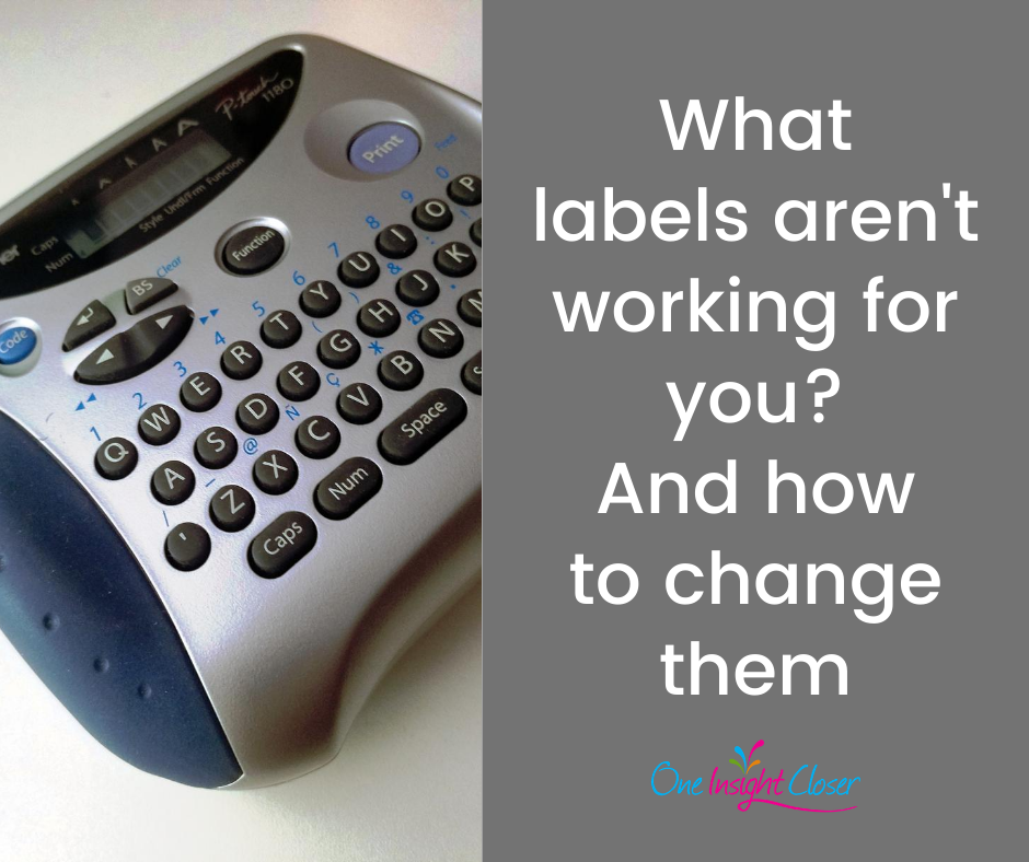 Picture of label maker with text What labels aren't working for you? And how to change them
